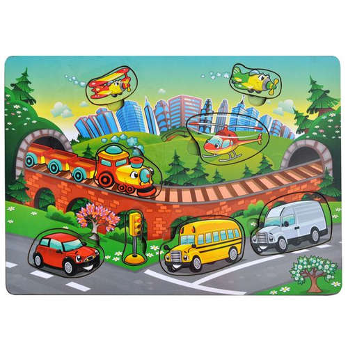Игрушка развивающая, Рамка-вкладка Транспорт