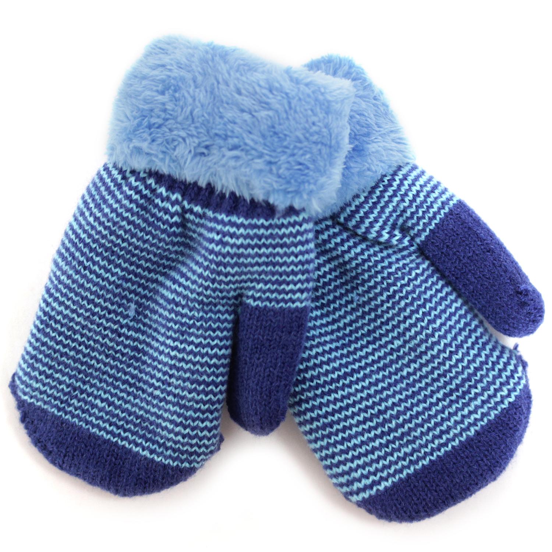 Варежки и перчатки Принчипесса Варежки детские Принчипесса, синие-голубые