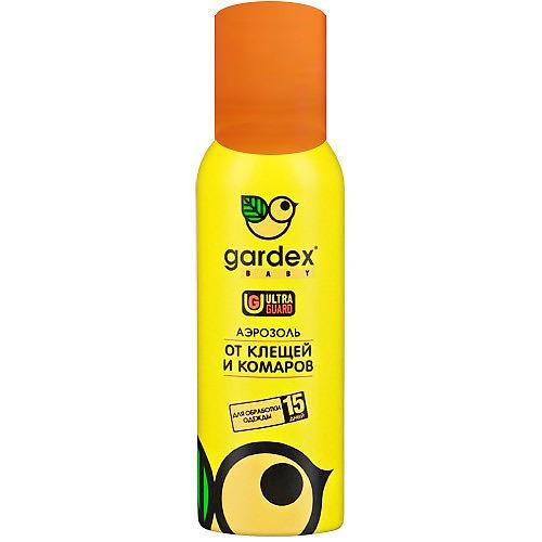 Аэрозоль от клещей и комаров на одежду 100 мл (Gardex, Baby)