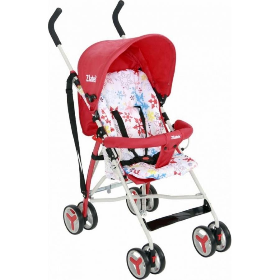 Прогулочная коляска Zlatek Funny red (красный)
