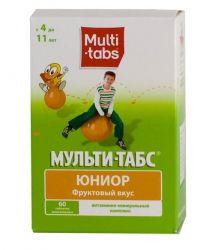 Мульти-табс Юниор витамины фруктовый вкус №60 таблетки жевательные