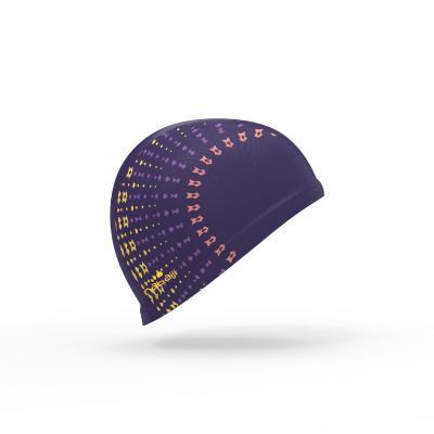 Шапочка для плавания NABAIJI Шапочка Для Плавания Тканевая Размер L С Принтом Фиолетовая