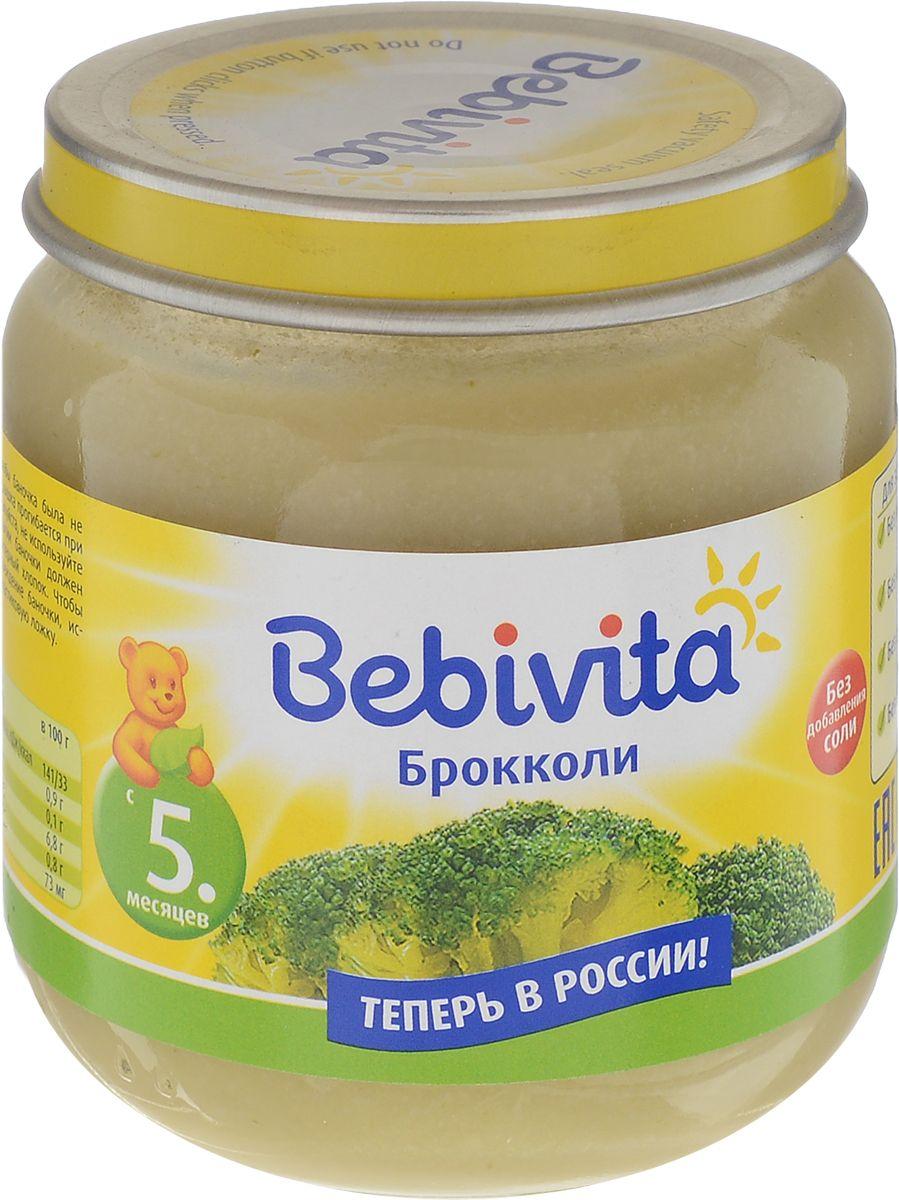 Bebivita пюре брокколи, с 5 месяцев, 100 г