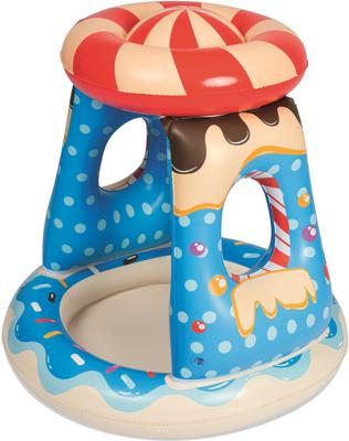 Детский надувной бассейн BestWay с навесом Конфетка 91х91х89 26 л от 2 лет 52270 BW