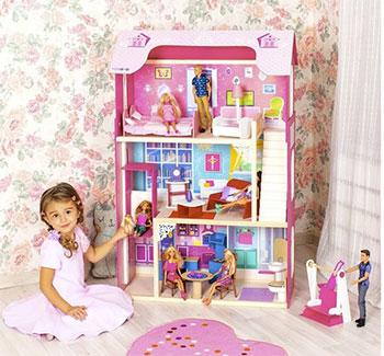 Кукольный дом Paremo PD 315-01 Кукольный дом для куклы Муза с 16 предметами мебели качелями и лифтом