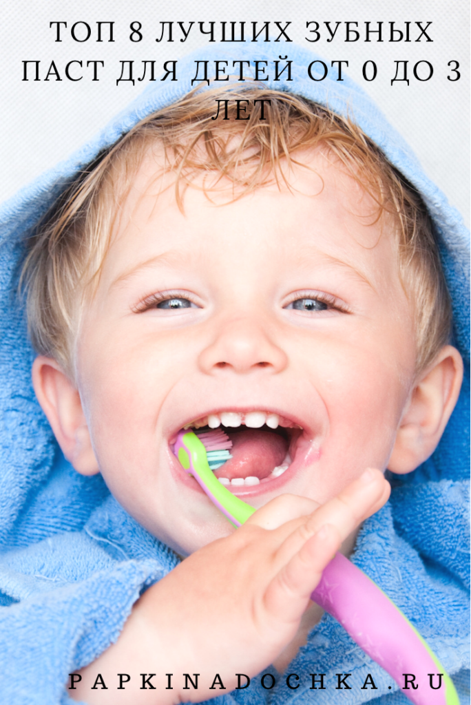 Топ 8 лучших зубных паст для детей от 0 до 3 лет