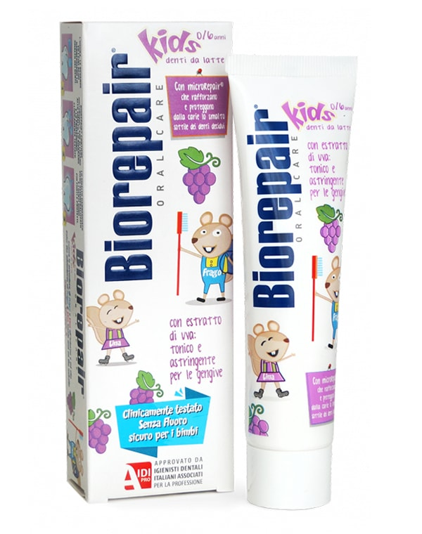 Зубная паста детская виноград (от 0 до 6 лет), Biorepair Kids, 50 мл